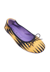 Zigzag Striped Flats - Yellow