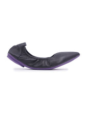 Soft Pointed Flats - Black
