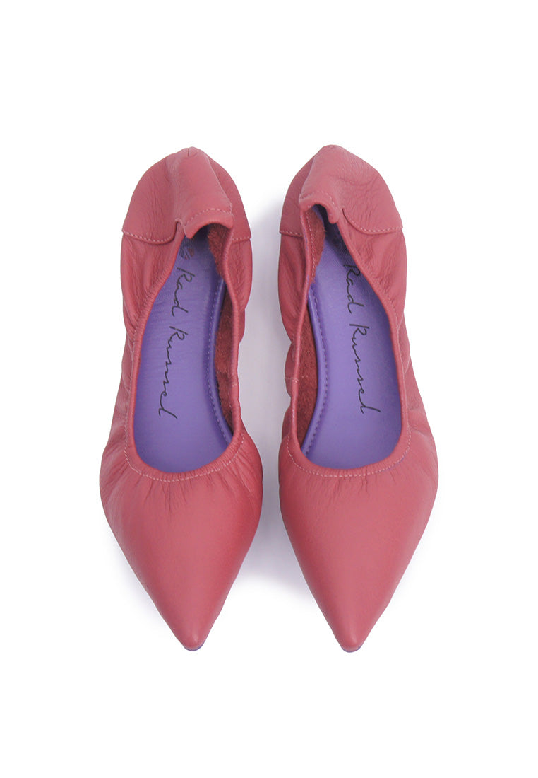 Soft Pointed Flats - Red