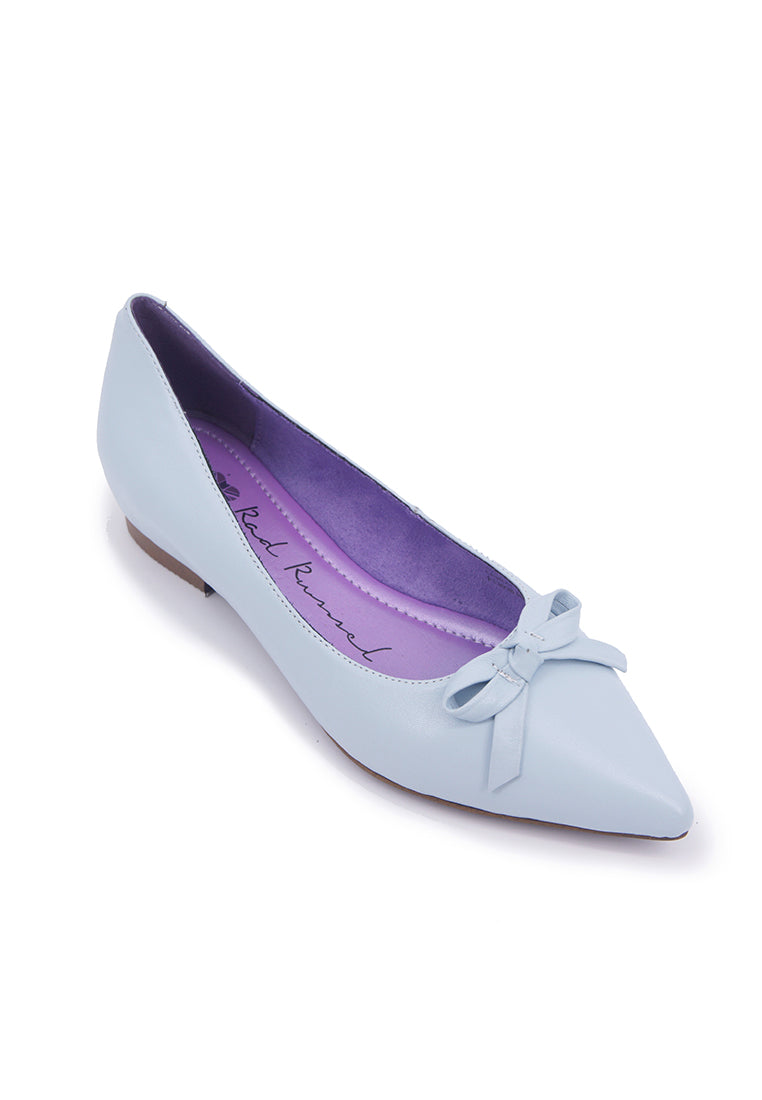 Pointy Flats with Ribbon - Blue