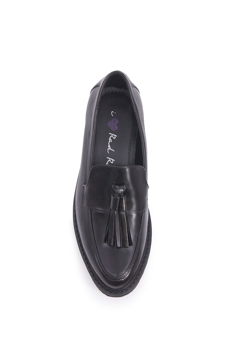 Loafer with Tassels - Black