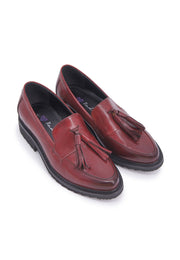 Loafer with Tassels - Burgundy