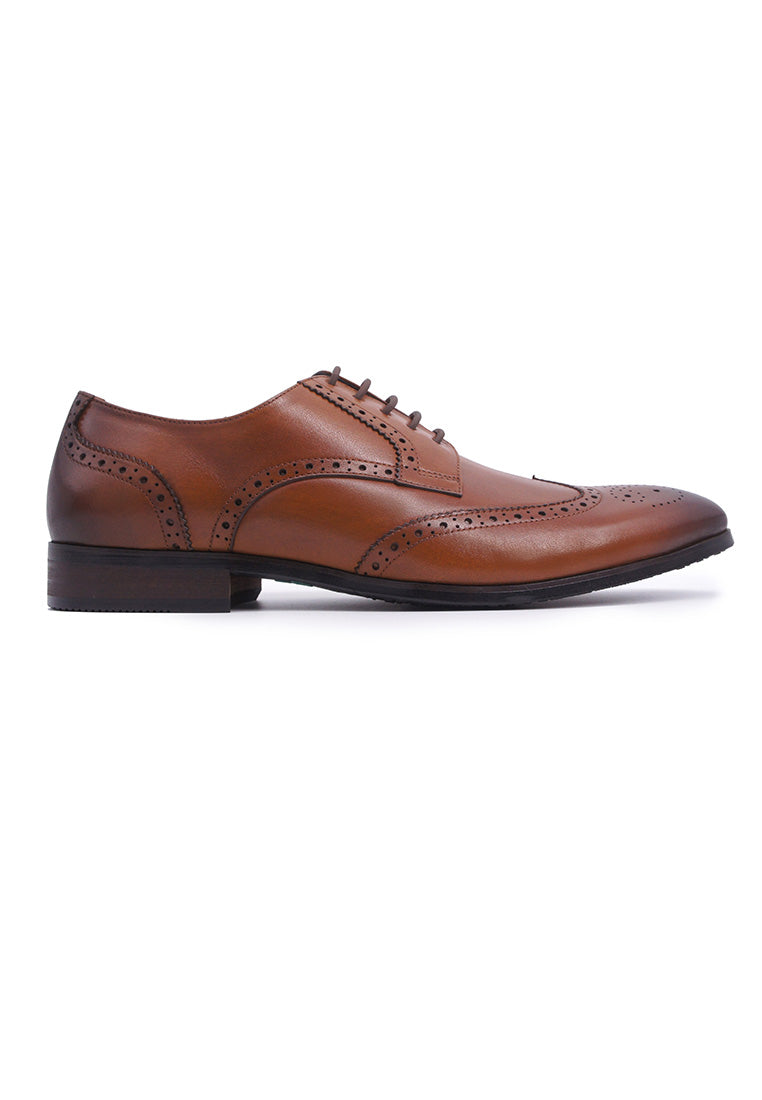 Hanson Bootmaker LacEasy Derby with Wingtips - Tan
