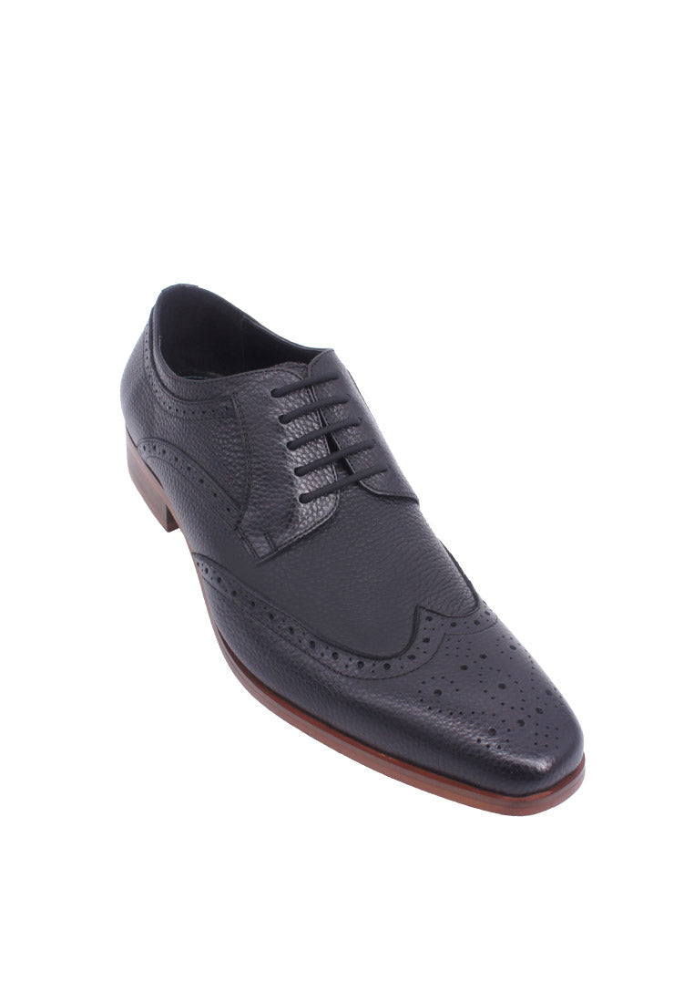 Hanson Bootmaker LacEasy Derby with Wingtips- Black
