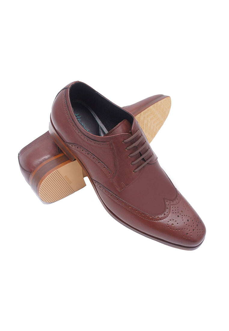 Hanson Bootmaker LacEasy Derby with Wingtips- Brown