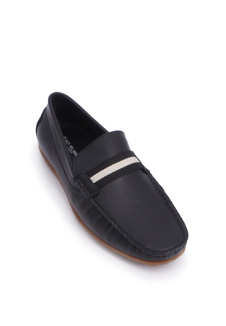 Rad Russel Moccasins with Stripe-Black