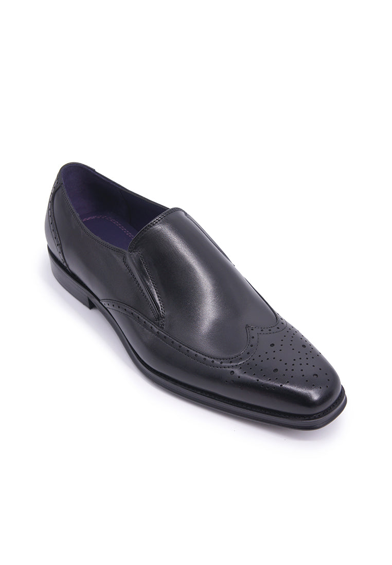 Rad Russel Slip-on with Wingtips - Black