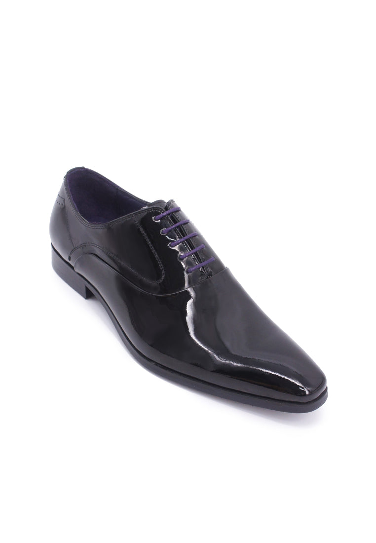 Rad Russel Lace-up Shiny Leather Oxford - Black