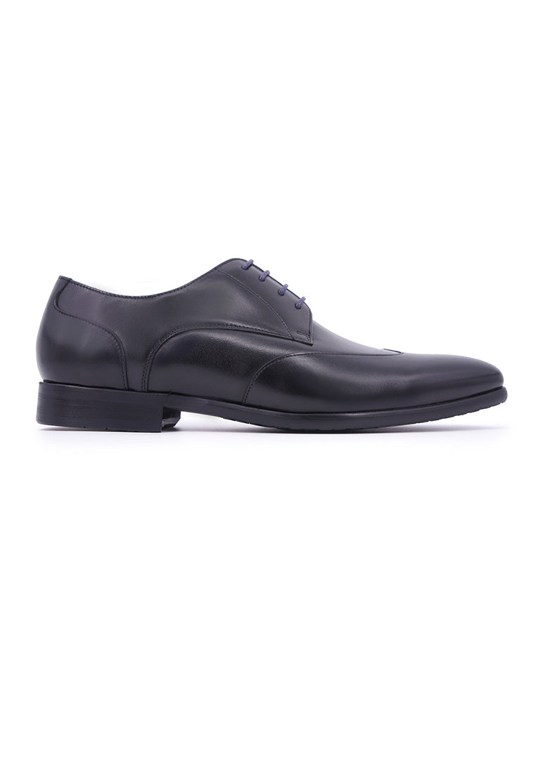 Rad Russel Lace-up Derby with Wing-tips - Black