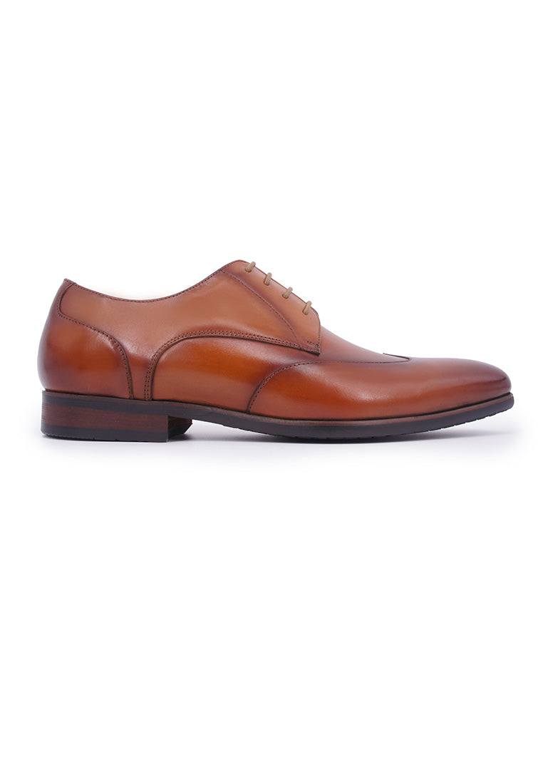 Rad Russel Lace-up Derby with Wing-tips - Tan