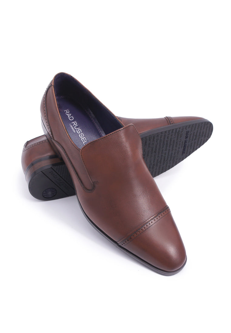 Rad Russel Cap-toe Slip-ons - Brown