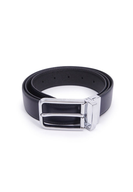 Rad Russel 1.3inch Leather Belt - Navy