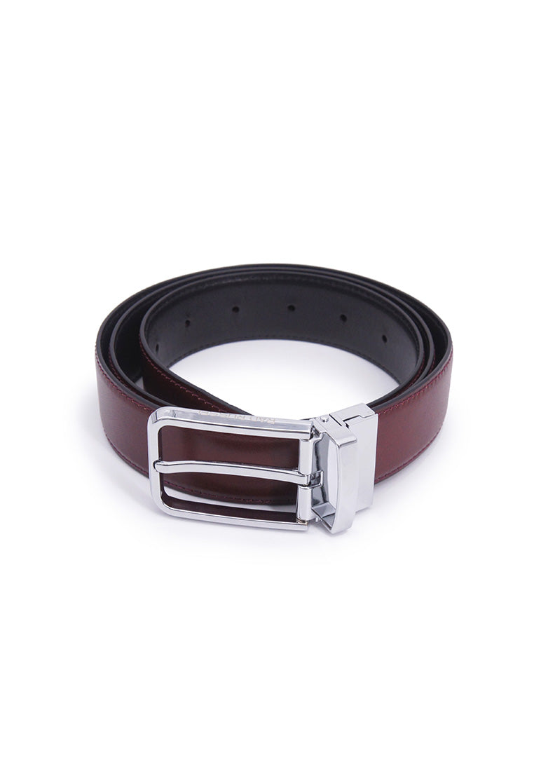 Rad Russel 1.3inch Leather Belt - Burgundy