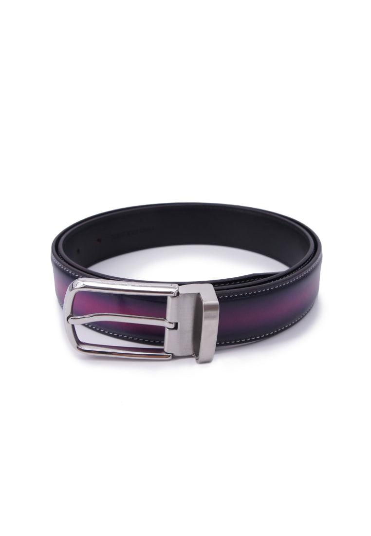 Rad Russel Leather Belt - Purple