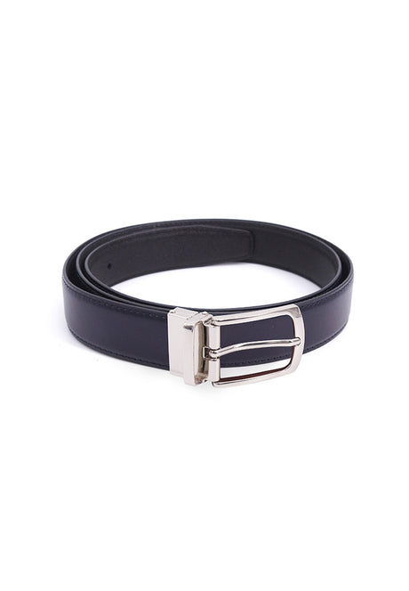 Rad Russel 1.2inch Leather Belt - Navy