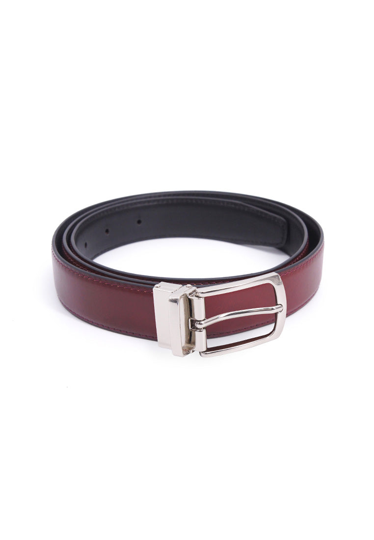 Rad Russel 1.2inch Leather Belt - Burgundy