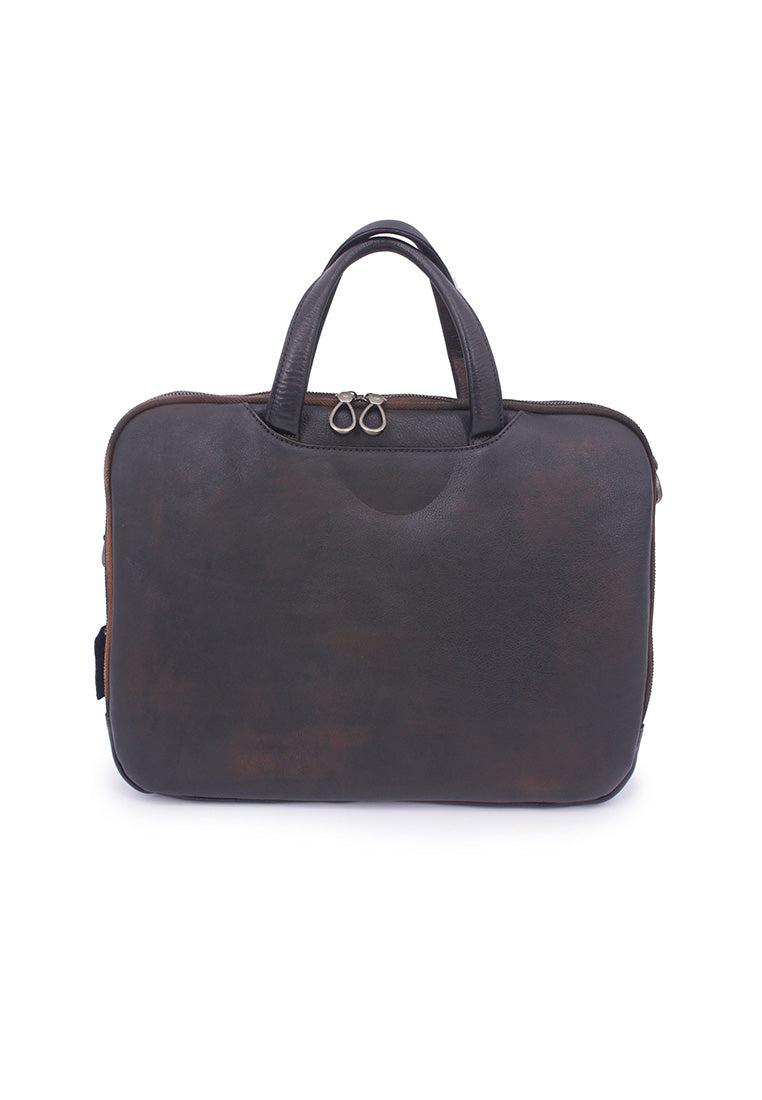 Rad Russel Leather Document Bag - Coffee