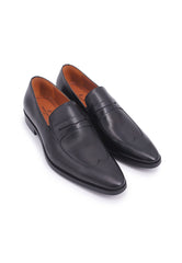 Simon Carter Penny Loafer - Black