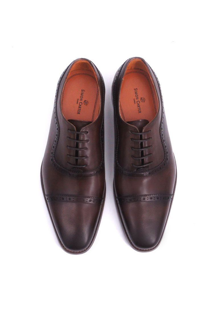 Simon Carter Lace-up Oxford - Coffee