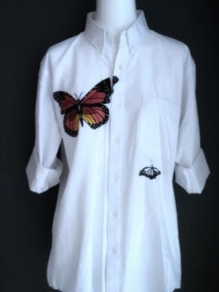Camisa Oversize Red Butterfly