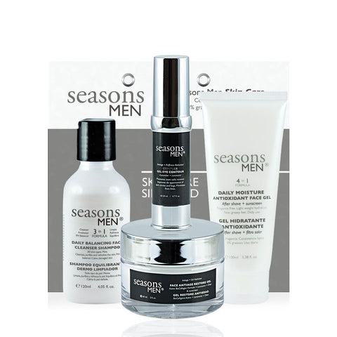 Pack MEN BASIC FACE CARE  4 pzas