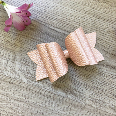 Coral Gold Bow