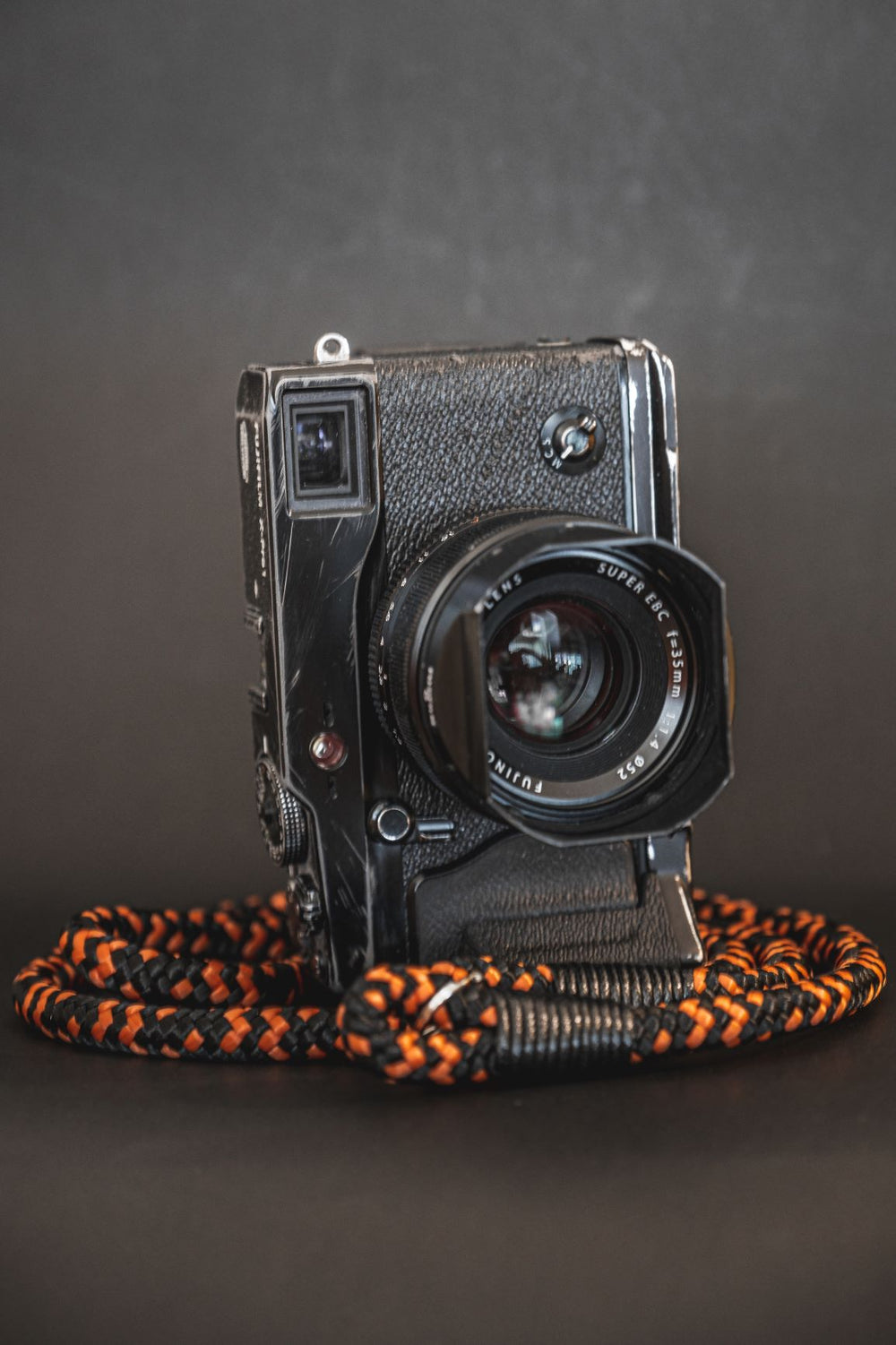 Fire Orange -Black - Hyperion Handmade Camera Straps