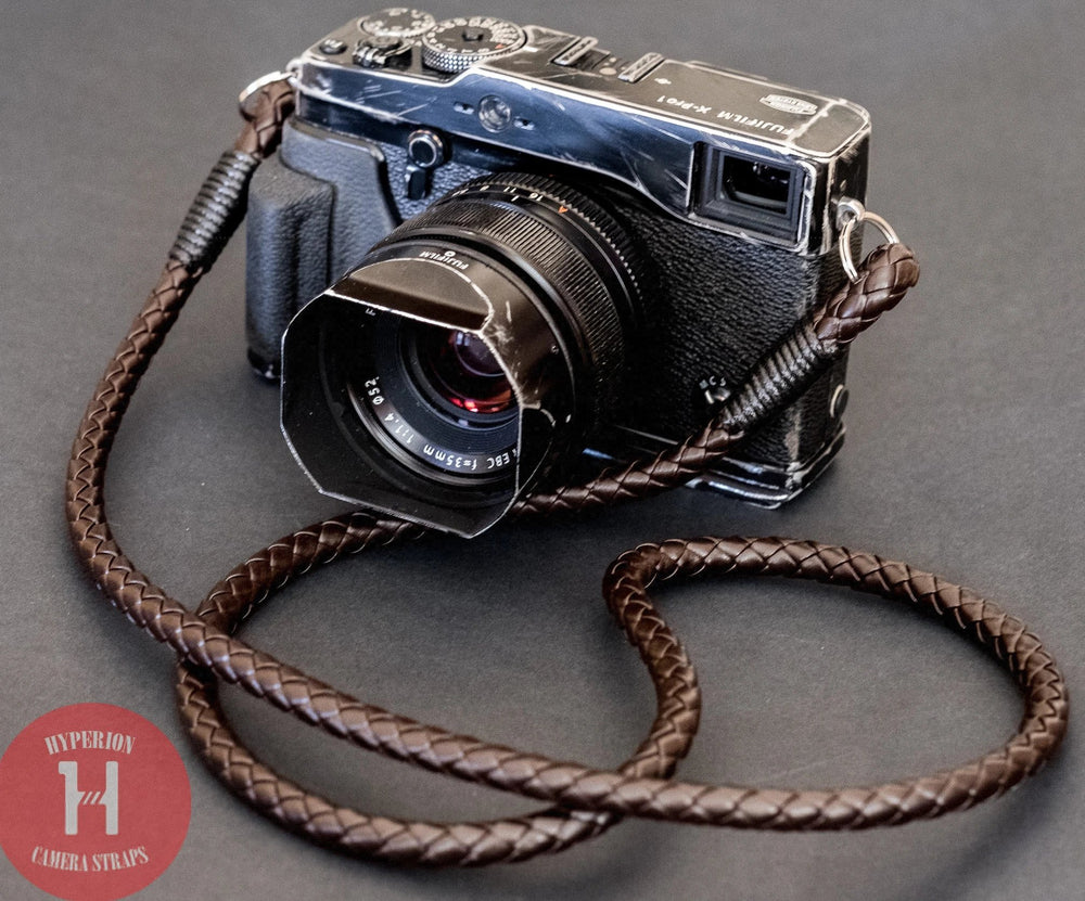 Brown PU Leather Braided - Hyperion Handmade Camera Straps