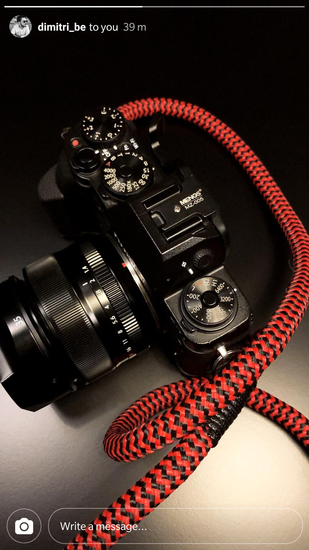Red-Black - Hyperion Handmade Camera Straps