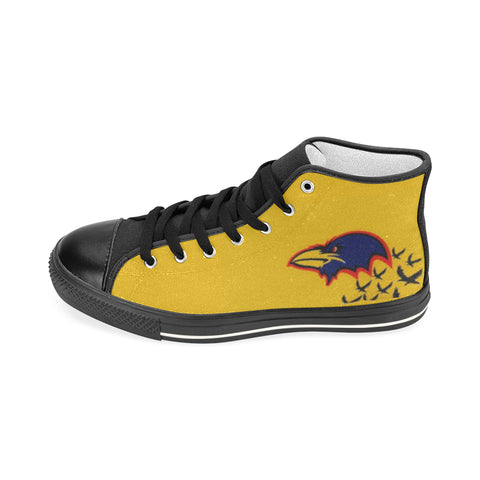 ADELAIDE CROWS Aquila High Top Canvas Women's Shoes (Model017)