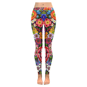 Floral All-Over Low Rise Leggings (Model L05)