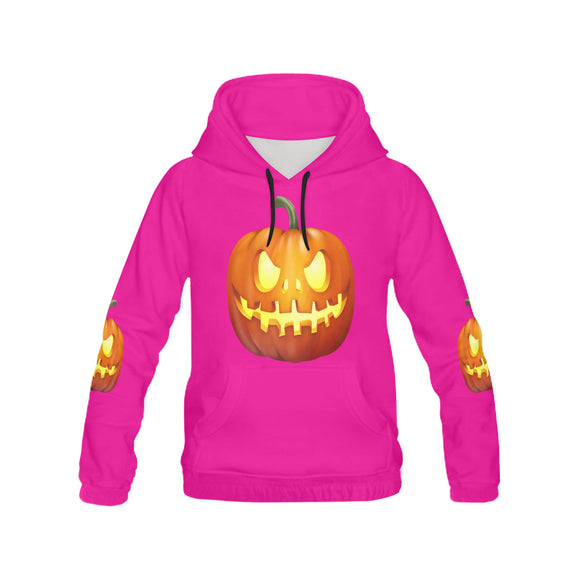 Women's Monster Pumpkin All Over Print Hoodie (USA Size) (Model H13)