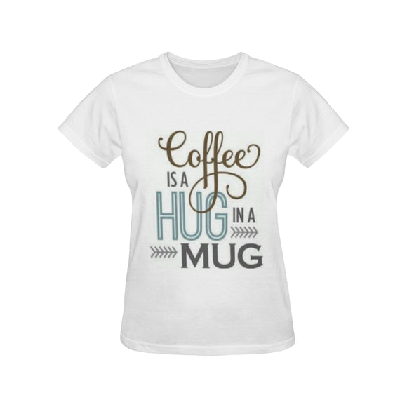 Cofee Women's All Over Print T-shirt (USA Size) (Model T40)