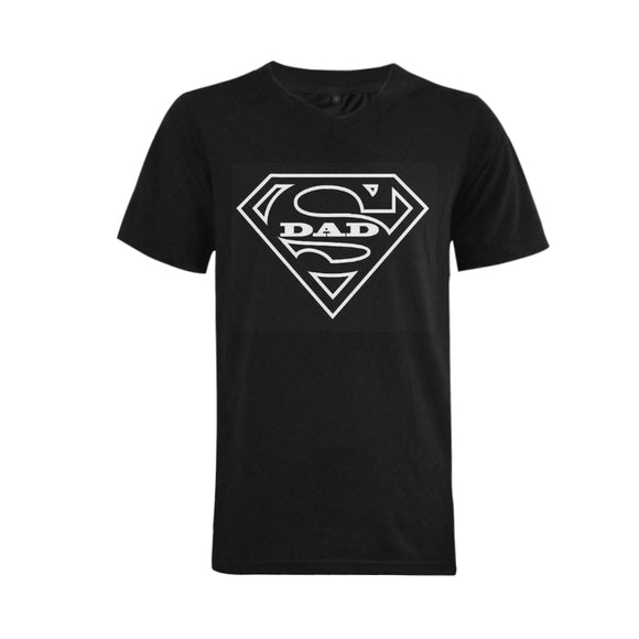 Super Dad Men's V-Neck  T-shirt (USA Size) (Model T10)