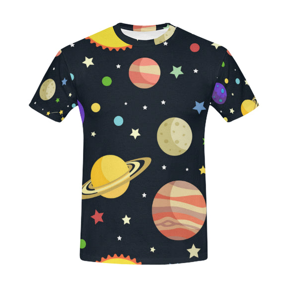 BrettV Nature Space Universe Planet Star Men's All Over Print Mesh T-shirt (USA Size) (Model T40)