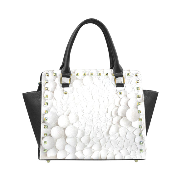 Textured Rivet Shoulder Handbag (Model 1645)