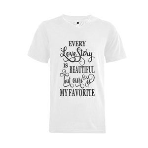 Love Men's V-Neck  T-shirt (USA Size) (Model T10)