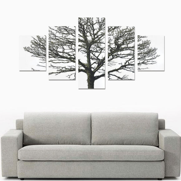 Home Bare tree Canvas Wall Art Prints (No Frame) 5-Pieces/Set B
