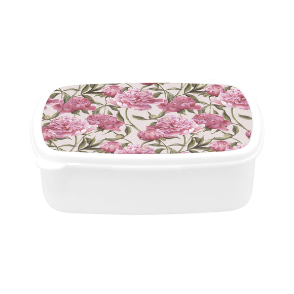 Julia Rose Nature Flower Floral Vintage Peony Pink Elegant Children's Lunch Box