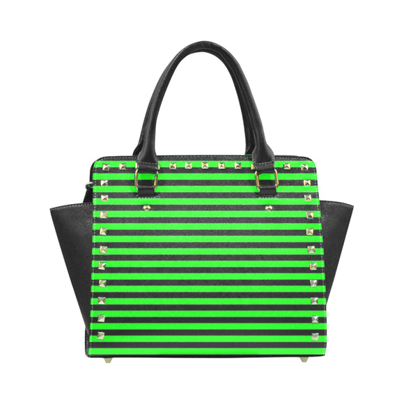 Stripes Rivet Shoulder Handbag (Model 1645)