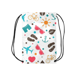 Tropical Drawstring Bags  (Model 1604) (Small)