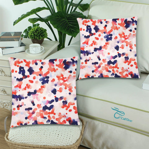"Abstract Throw Pillow Cover 18""x 18"" (Twin Sides) (Set of 2)"