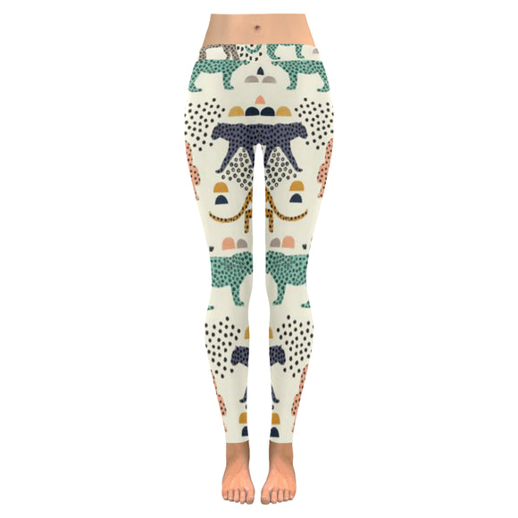 Vintage All-Over Low Rise Leggings (Model L05)