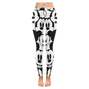 Black & White All-Over Low Rise Leggings (Model L05)