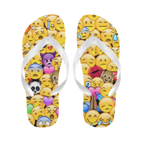 Emoji Flip Flops (For both Men and Women) (Model040)