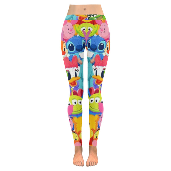 Disney Cartoon All-Over Low Rise Leggings (Model L05)