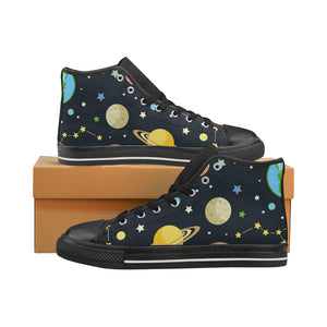 nature space universese planet star Aquila High Top Canvas Men's Shoes (Model017) (Large Size)