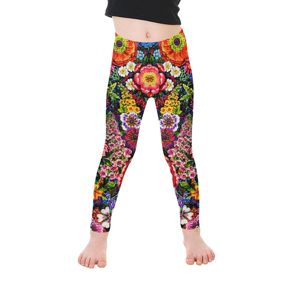 Floral All-Over Kid's Leggings (Model L06)