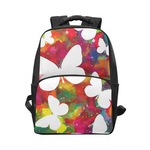 Animal butterflies white vivid background Laptop Backpack (Model 1663)