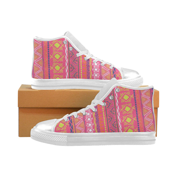 Ajrak Design Aquila High Top Canvas Kid's Shoes (Model017)